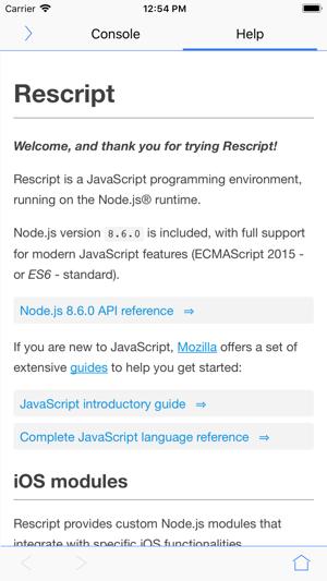 Rescript on the App Store