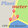 Planimeter land measure on map