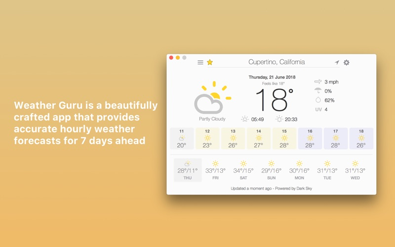 Weather Guru: Hourly Forecasts Screenshots