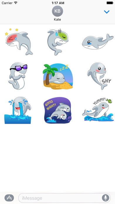 Adorable Dolphin Sticker screenshot 2