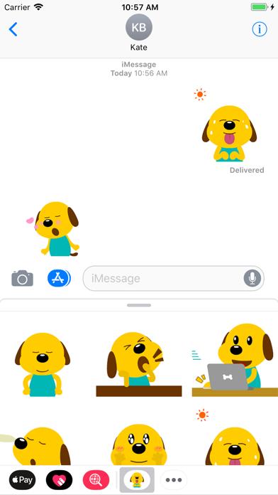 Yellow Dog Animated Stickers screenshot three
