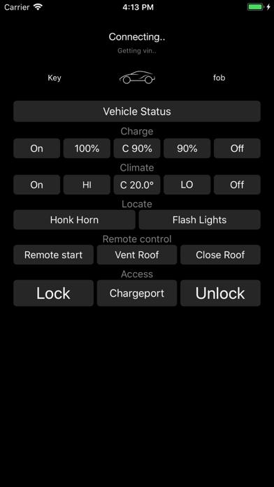 Key fob for Tesla Screenshots