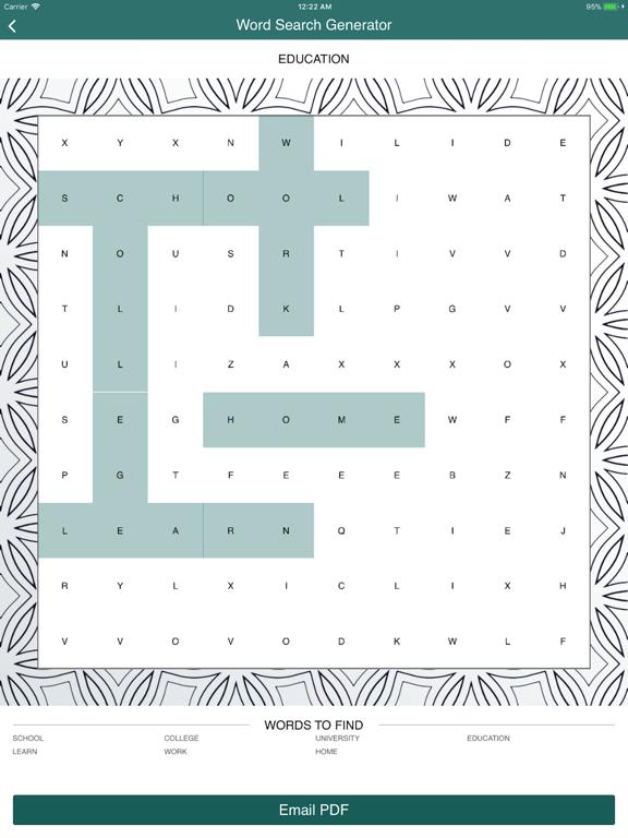 Word Search Puzzle Generator screenshot 10