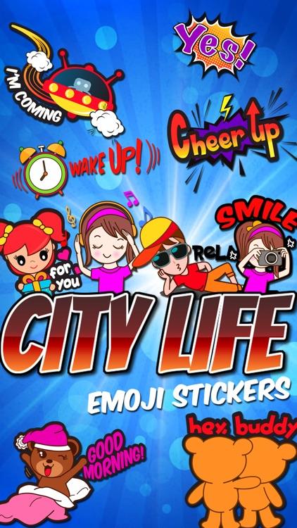 City Life Emoji Stickers