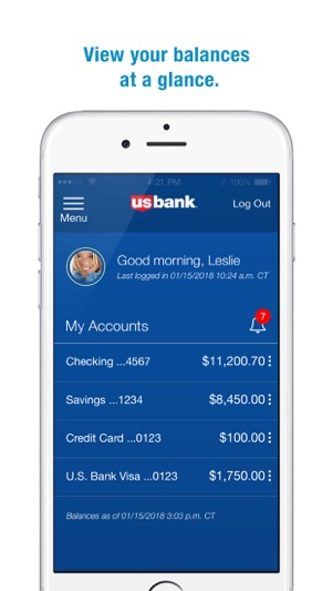 Us bank on the app store iphone screenshots reheart Images