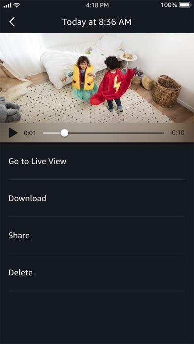 Amazon Cloud Cam Screenshot