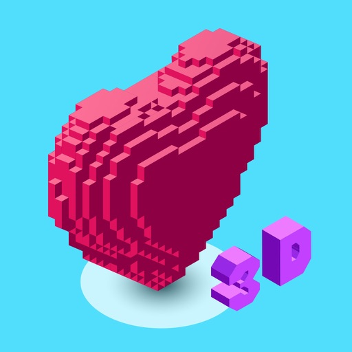 3d Number Coloring: Voxel Art