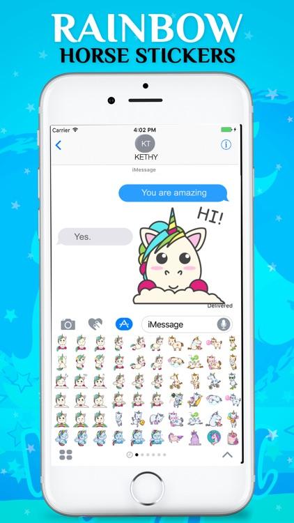 Rainbow Horse Emojis screenshot-4