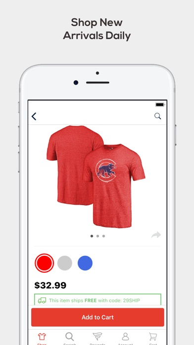 Screenshot for Fanatics: Gear for Sports Fans in United States App Store