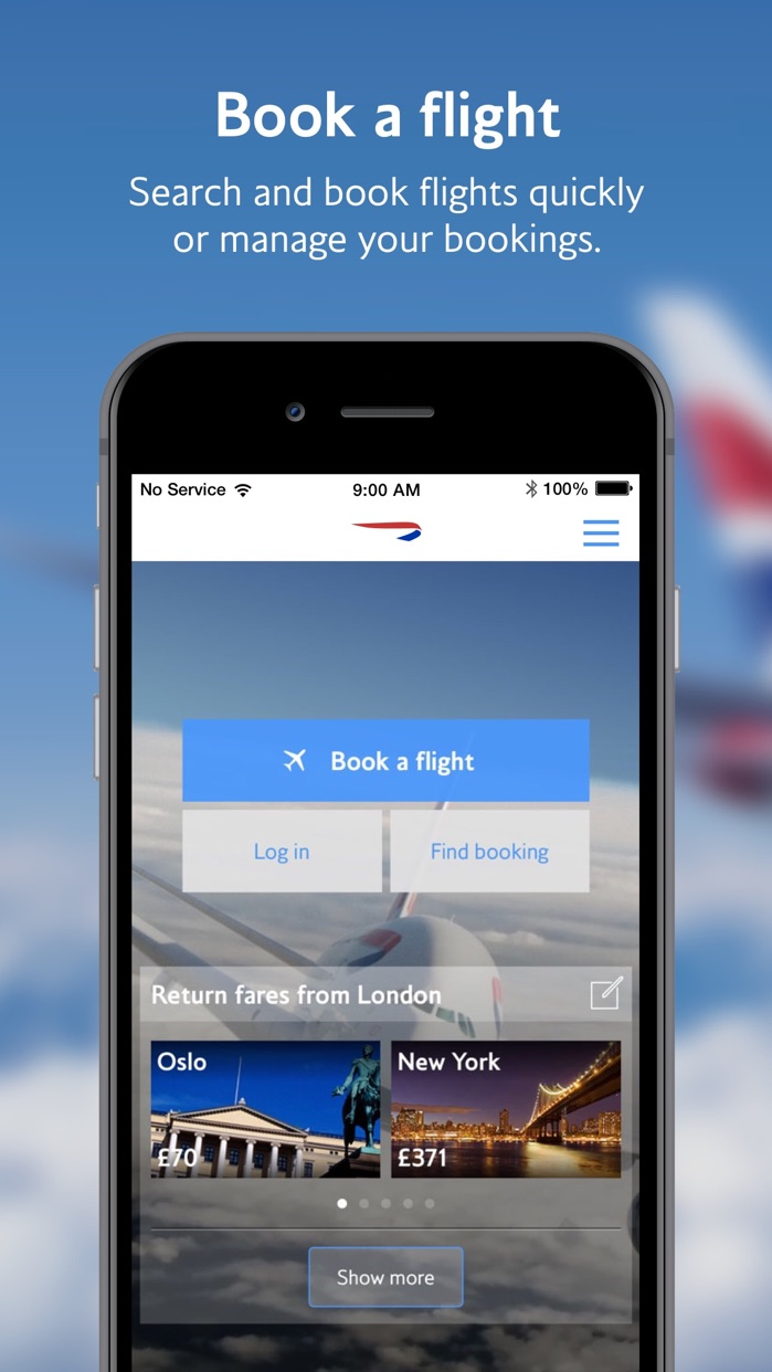 British Airways Screenshot