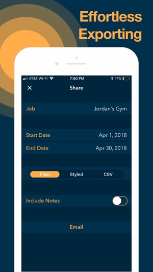 app to keep track of hours worked