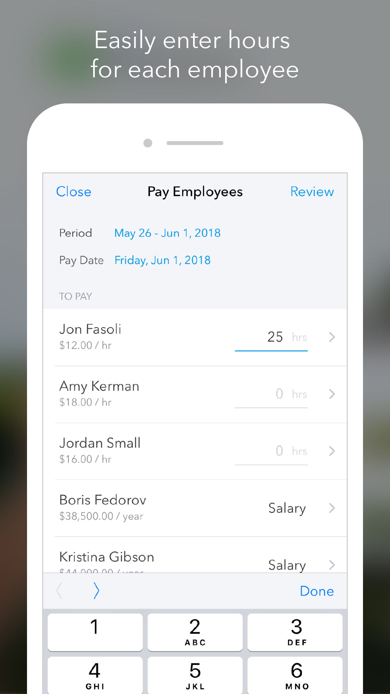 QuickBooks Payroll Screenshot