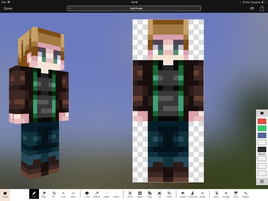 Screenshot #1 for Minecraft: Skin Studio