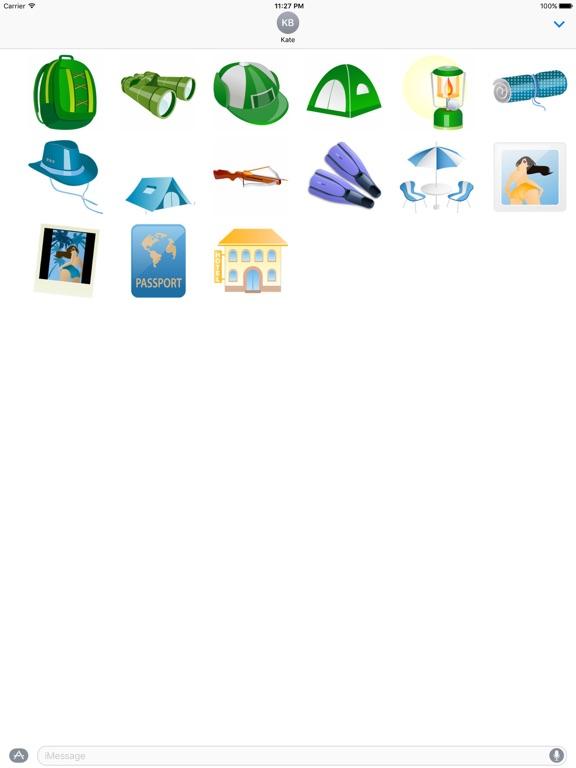 Summer And Beach Icon Sticker screenshot 7