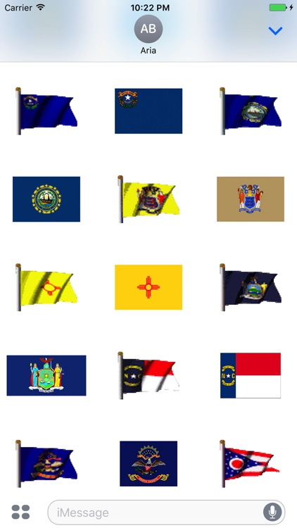 Animated Flags Of 50 US States screenshot-5