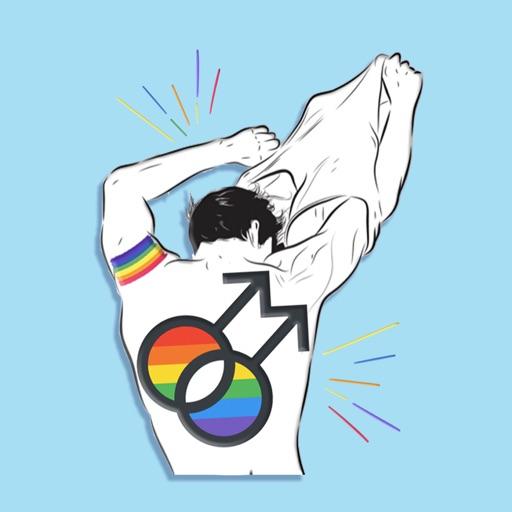 Pride Gay Guy Stickers