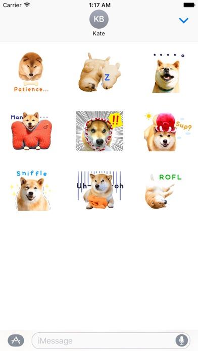 Adorable Shiba Inu Dog Sticker Screenshot