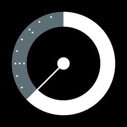 Ícone do app Calendário redondo e rotativo