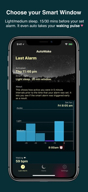 ‎AutoWake  Smart Sleep Alarm