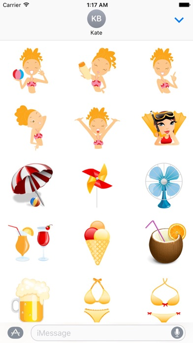 Summer And Beach Icon Sticker screenshot 2
