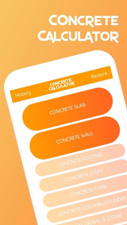 Concrete Calculator for Pros