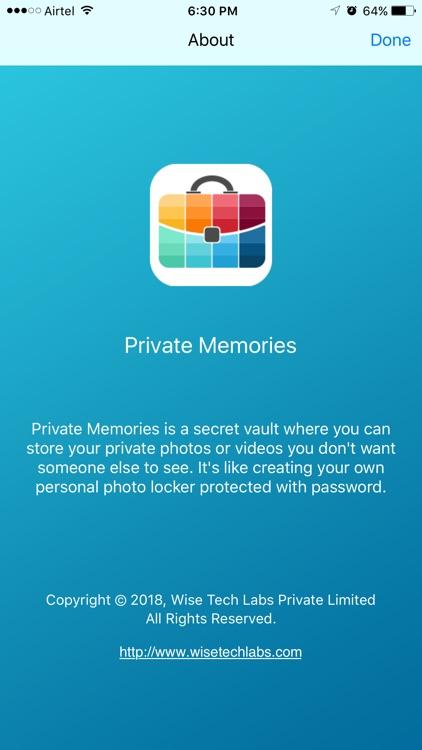Private Memories - Photo Vault