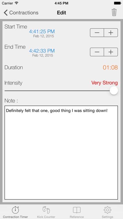 Full Term - Contraction Timer screenshot-4
