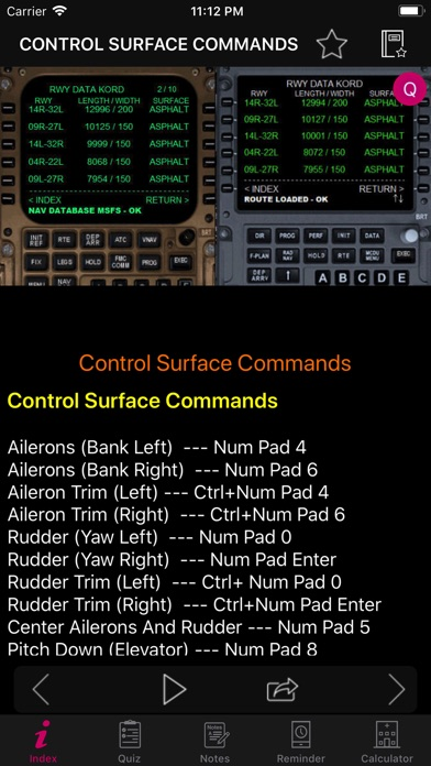 FSX Key Commands