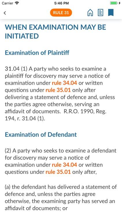 Ontario Court Rules screenshot-5