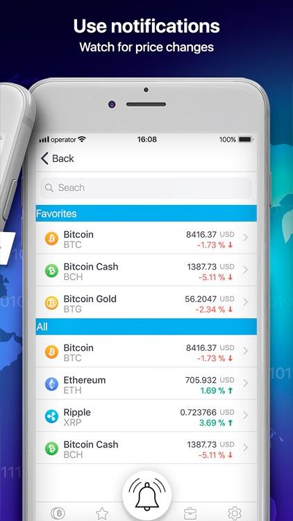 Crypto Snaper: bitcoin tracker