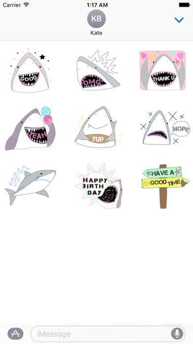 Funny Shark SharkMoji Sticker Screenshot