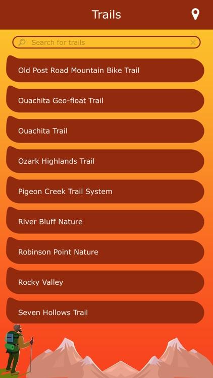 Arkansas Hiking Trails
