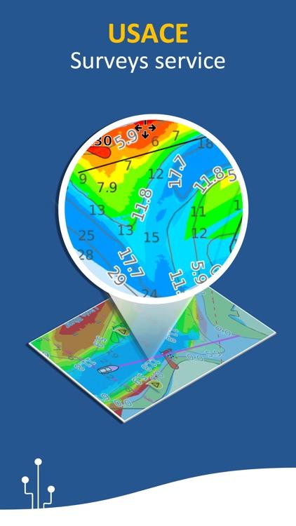 Aqua Map: Marine & Lake charts screenshot-5