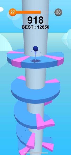 Jump Ball-Bounce On Tower Tile Screenshot