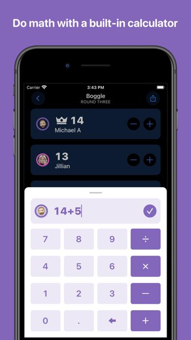 Screen Shot Scorecard: Point Tracker 6