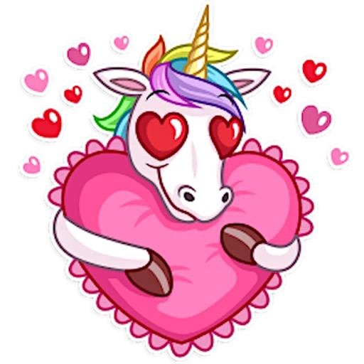 Funny Rainbow Unicorn Stickers