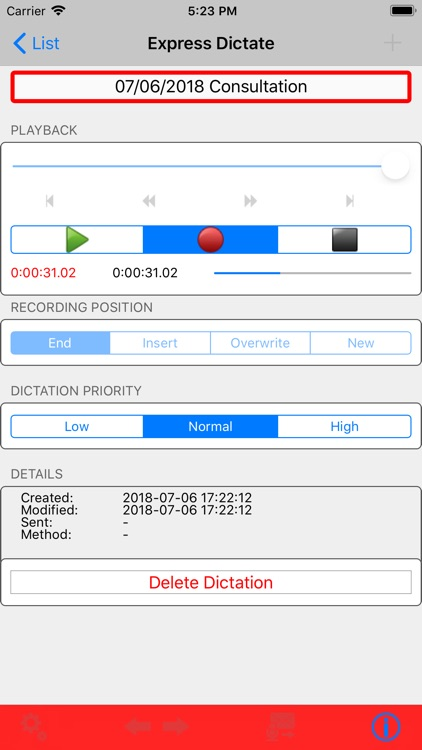 Express Dictate Dictation App screenshot-3