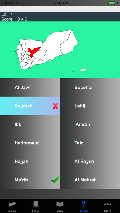 Yemen State Maps and Capitals screenshot three