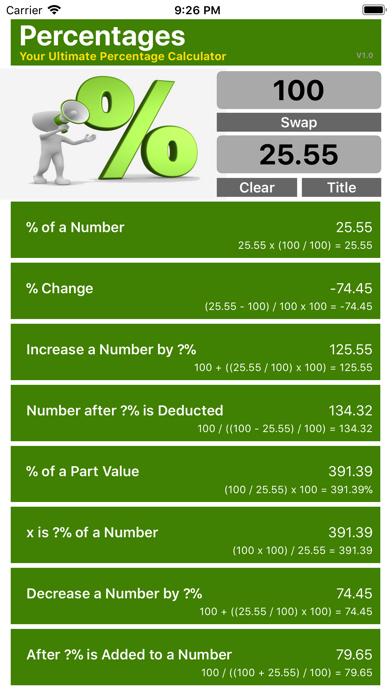 Ultimate Percentage Calculator screenshot three