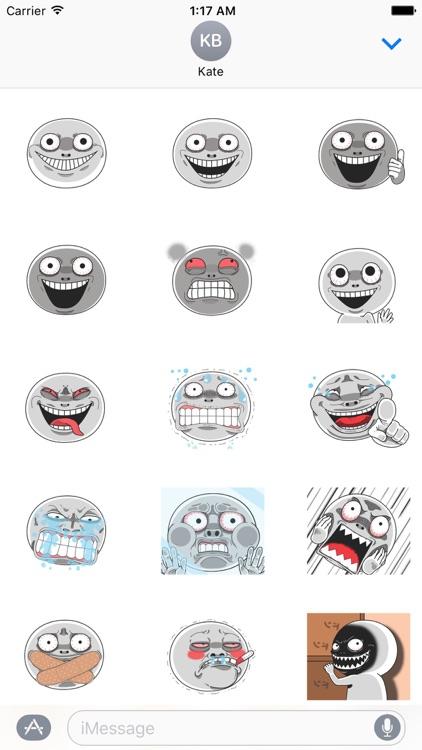 Animated Creepy Emoji Sticker
