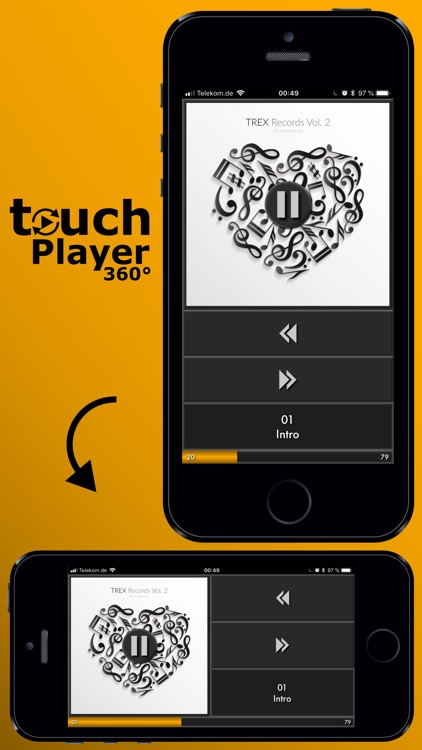 touchPlayer360 - Music Player screenshot-3