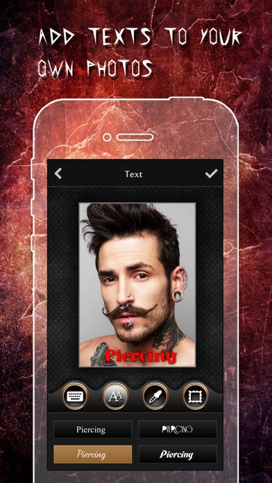 Piercing & Tattoo Design Booth app image