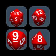 RPG Dice Bundle for iMessage – contains D4, D6, D8, D10, D12, D20
