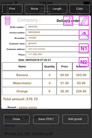 TC Print Invoice - náhled