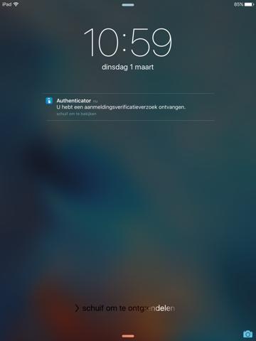 Microsoft Authenticator iPad app afbeelding 3