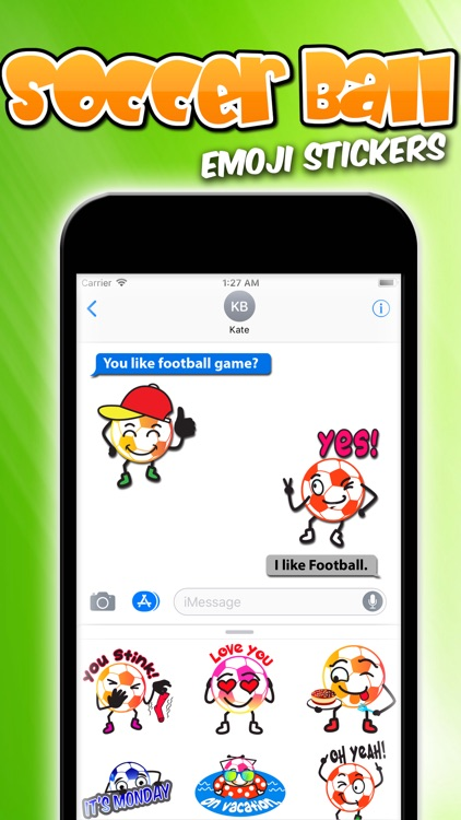 Soccer Ball Emoji Stickers