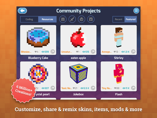 iPad Image of Mod Creator for Minecraft