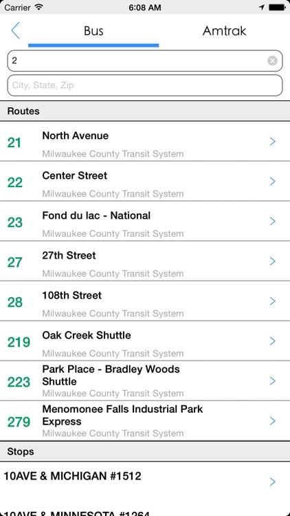 Transit Tracker - Milwaukee screenshot-4