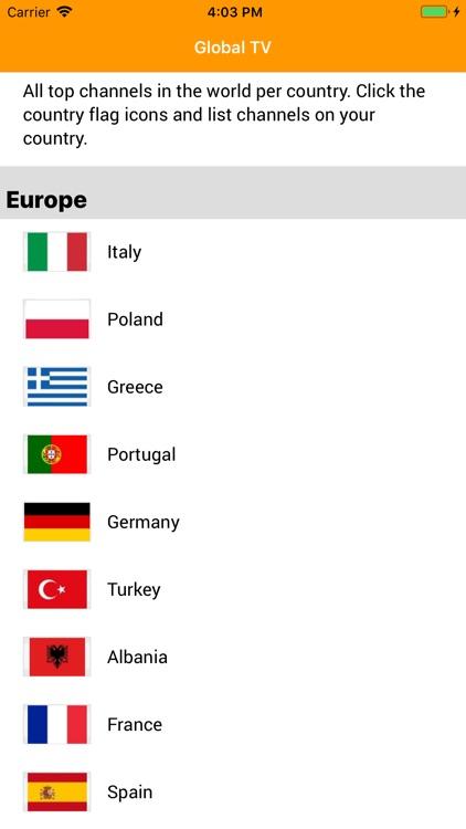 Global TV Channels Info screenshot-3