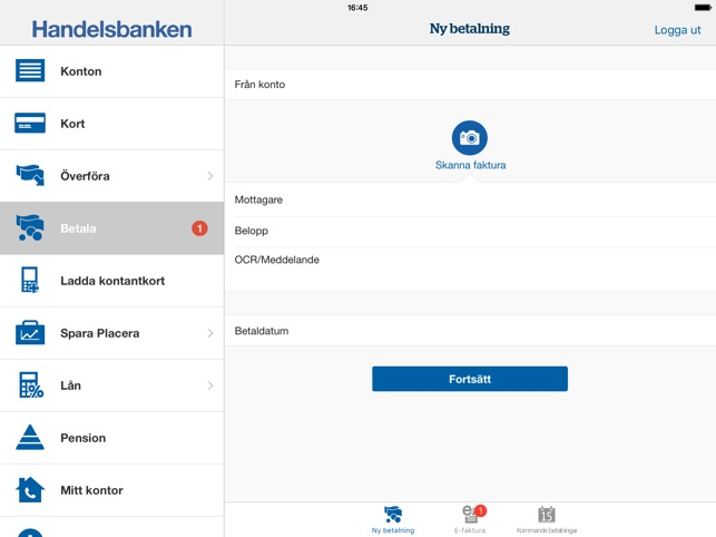 handelsbanken login privat